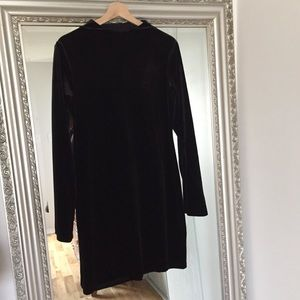 H&M Black Velour Party Dress